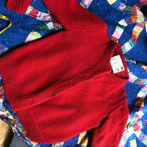 Red knit sweater vintage